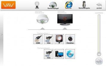 Touchpanel Layout Mediensteuerung