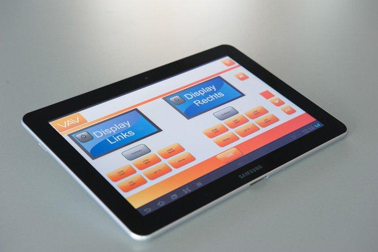 Mediensteuerung über Tablet