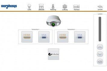 Touchpanel Design Mediensteuerung