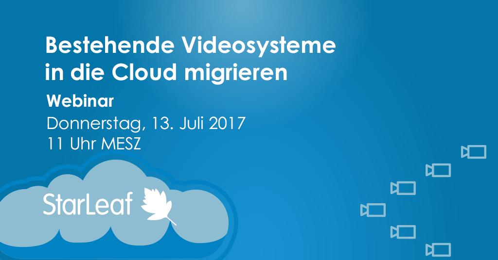 Migration von Videokonferenzsystemen in Cloud